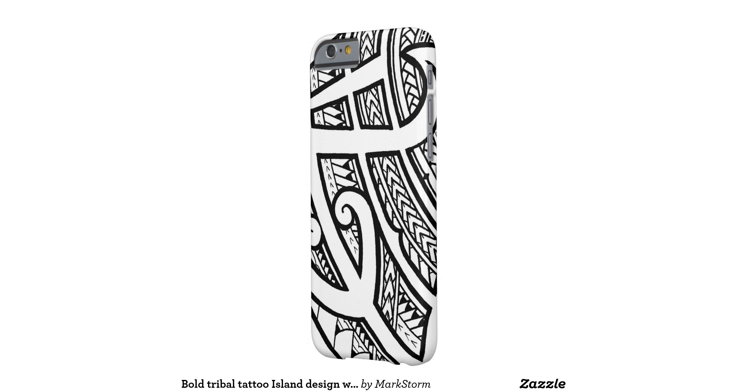 bold tribal tattoo island design with spearheads barely there iphone 6 case zazzle. Black Bedroom Furniture Sets. Home Design Ideas
