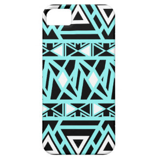 Bold Tribal Turquoise Barely There iPhone 5 Case