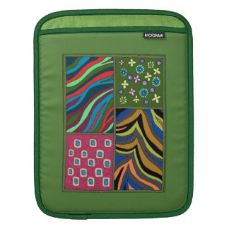 Bold Tropical Green Tapestry iPad Vertical sleeve