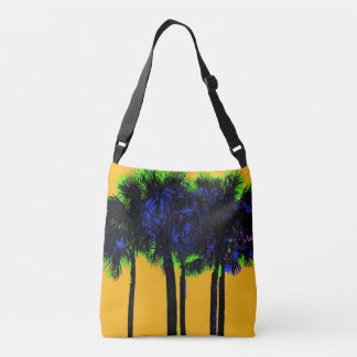 Bold Tropical Palm Trees Crossbody Bag