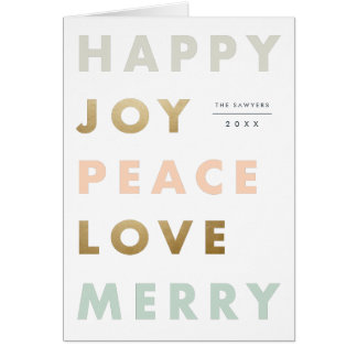 Bold type holiday photo greeting card