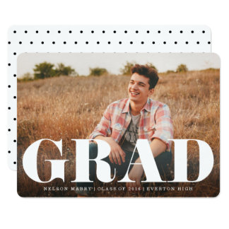 Bold Typography Modern Graduation Announcement