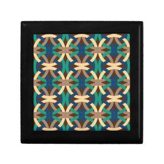 Bold Vibrant Geometric Pattern Gifts Jewelry Box