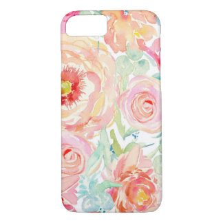 Bold Watercolor Floral iPhone 7 Phone Case