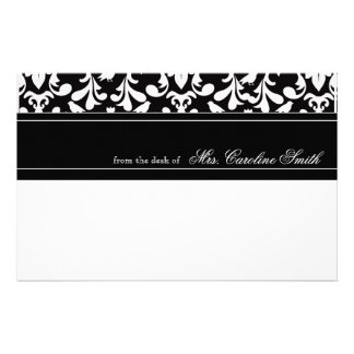 Bold White Birds & Flora Personalized Personalized Stationery