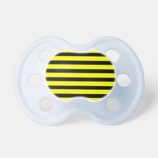 Bold Yellow and Black Bumble Bee Striped Pattern Baby Pacifiers