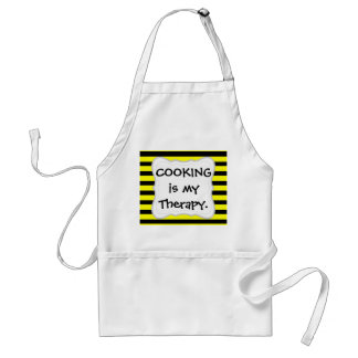 Bold Yellow and Black Bumble Bee Striped Pattern Standard Apron