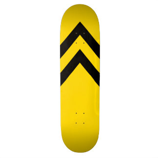 Bold Yellow and Black Chevrons Skateboard Deck