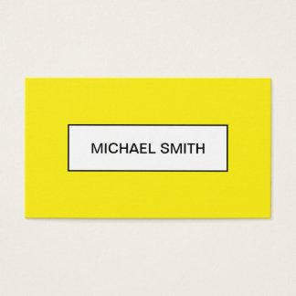Bold yellow minimalist trendy business card