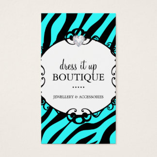 Bold Zebra Print Jewellery Designer Business Card