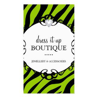 Bold Zebra Print Jewellery Designer Business Card