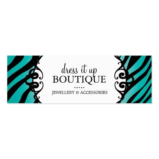 Bold Zebra Print Jewellery Designer Hang Tags Business Card Template