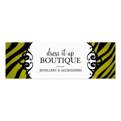 Bold Zebra Print Jewellery Designer Hang Tags Business Card