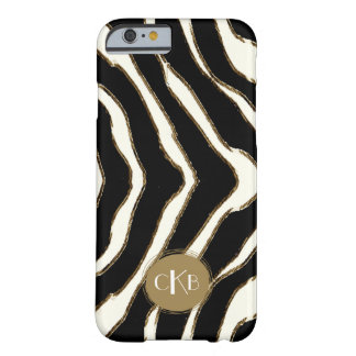 Bold Zebra Print Monogram iPhone 6 Case