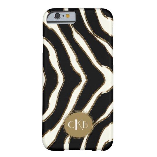 Bold Zebra Print Monogram iPhone 6 Case
