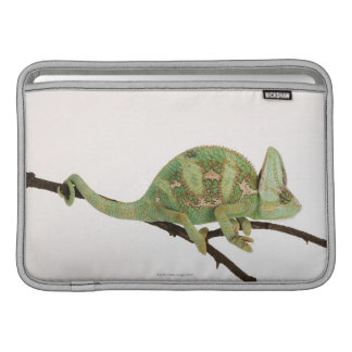 Boldly coloured chameleon with characteristic 2 MacBook sleeve