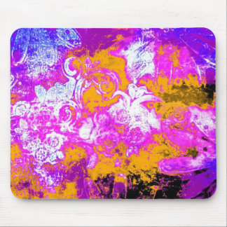 Boldly floral mouse mat
