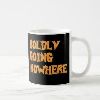 boldly going nowhere basic white mug