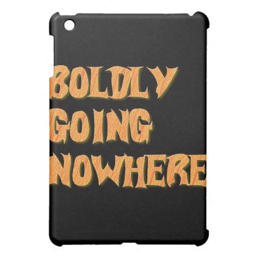 boldly going nowhere iPad mini cases