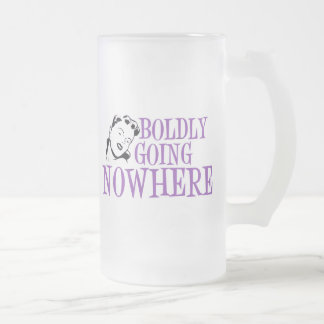 Boldly Going NOWHERE Retro Lady Purple Coffee Mugs