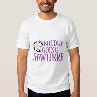 Boldly Going NOWHERE Retro Lady Purple Tee Shirts