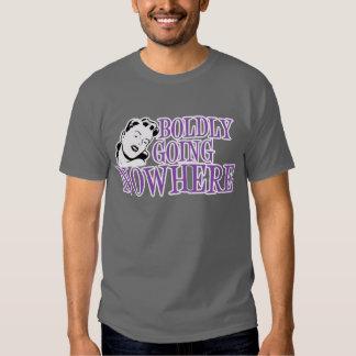 Boldly Going NOWHERE Retro Lady Purple Tees