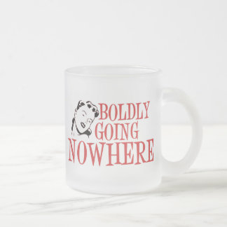 Boldly Going NOWHERE Retro Lady Red Mugs
