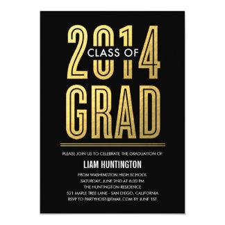 Boldly Proud Graduation Invitation - Black Invitations
