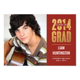 Boldly Proud Graduation Invitation - Red Custom Invitations