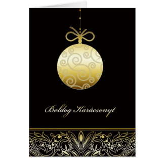 boldog Karácsonyt Merry christmas in Hungarian Card