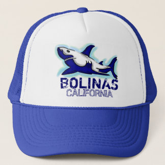 Bolinas California blue shark theme hat