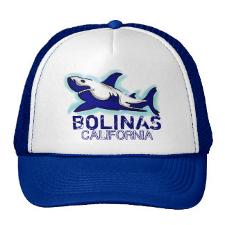 Bolinas California blue shark theme hat