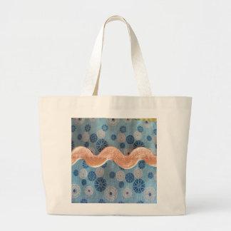 bolinhas em azul e branco bolsa para compras