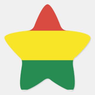 Bolivia/Bolivian (Civil) Flag Star Sticker