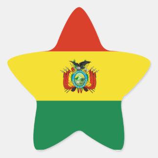 Bolivia/Bolivian Flag Star Sticker