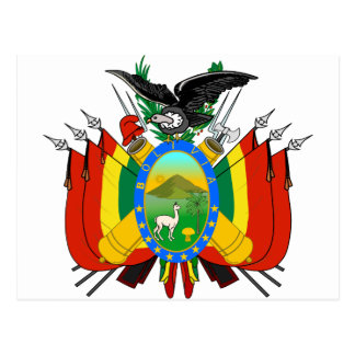 Bolivia Coat of arms BO Postcard