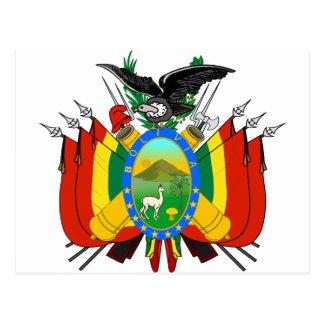 Bolivia Coat of arms BO Postcard
