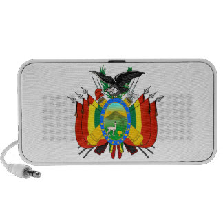 Bolivia Coat of Arms Doodle Portable Speakers