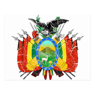 Bolivia Coat Of Arms Postcard