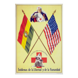 Bolivia - Emblems of Liberty and Humanity Poster