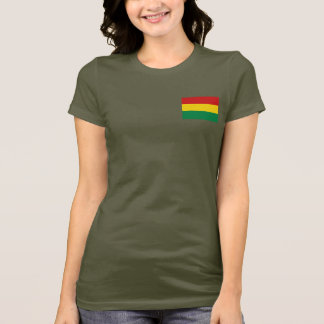 Bolivia Flag and Map dk T-Shirt