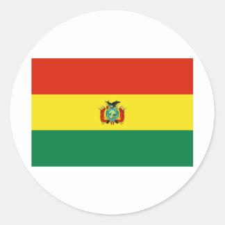 Bolivia Flag BO Classic Round Sticker