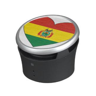 Bolivia Flag Heart Speaker