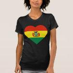 Bolivia Flag Heart T Shirts