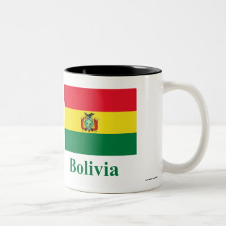 Bolivia Flag with Name Two-Tone Coffee Mug