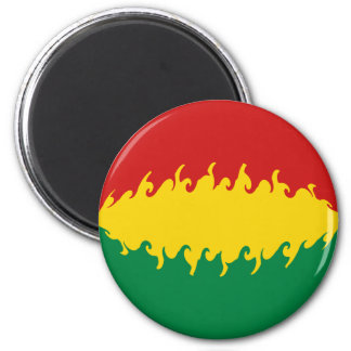 Bolivia Gnarly Flag 6 Cm Round Magnet