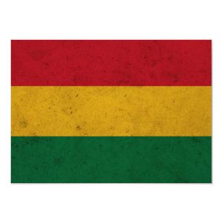 Bolivia Grunge Flag 13 Cm X 18 Cm Invitation Card
