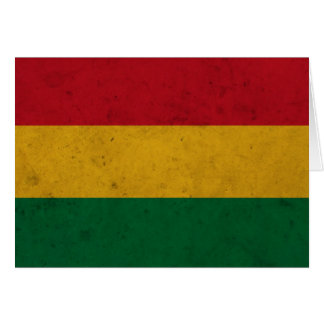 Bolivia Grunge Flag Greeting Card