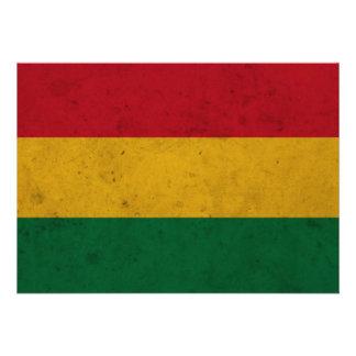 Bolivia Grunge Flag Custom Announcement