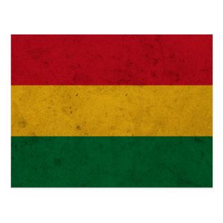 Bolivia Grunge Flag Postcard